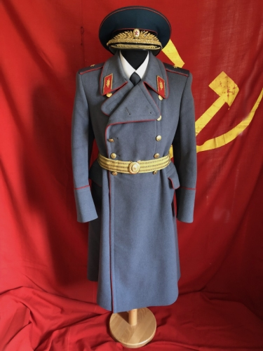 Soviet infantry major general dress winter coat